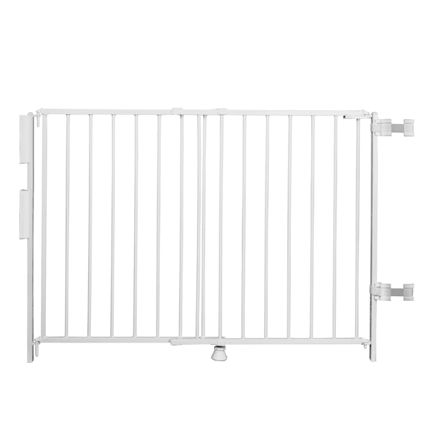 """Regalo Extra Tall Top of Stairs Metal Pet Gate with Banister Kit, 2"""" L X 55"""" W X 35"""" H - Carousel image #1"""