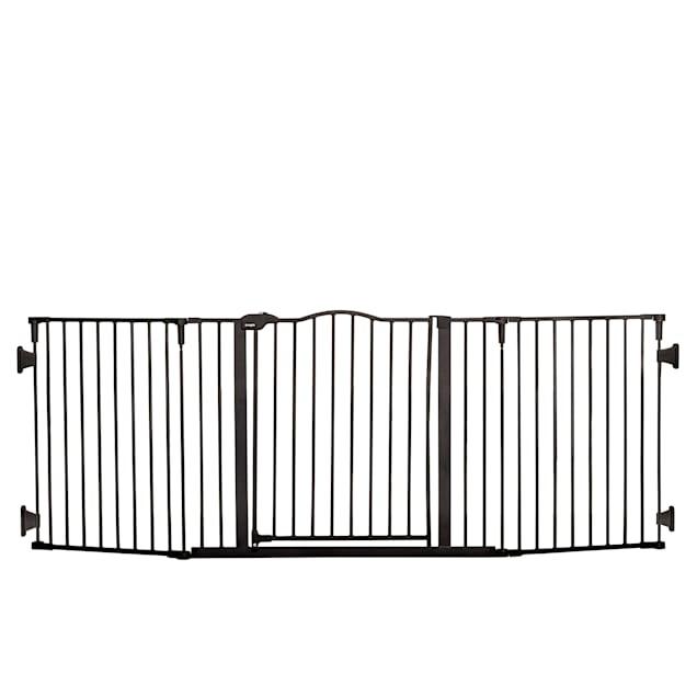 "Regalo Black Home Accents Widespan Safety Metal Pet Gate, 2"" L X 74.5"" W X 28"" H - Carousel image #1"