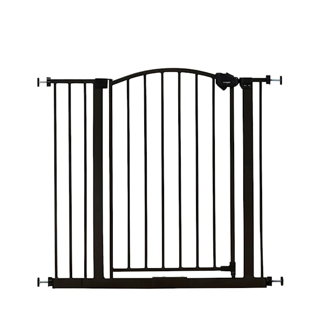 "Regalo Extra Wide Bronze Arched Decor Pet Gate, 2"" L X 35"" W X 30"" H - Carousel image #1"