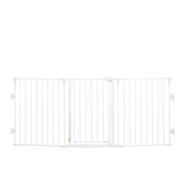 "Regalo Flexi Extra Wide Metal Pet Gate, 2"" L X 76"" W X 30"" H - Carousel image #1"