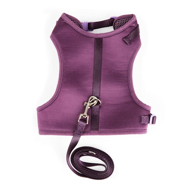 YOULY The Classic Purple Large Cat Harness & Leash Set - Carousel image #1