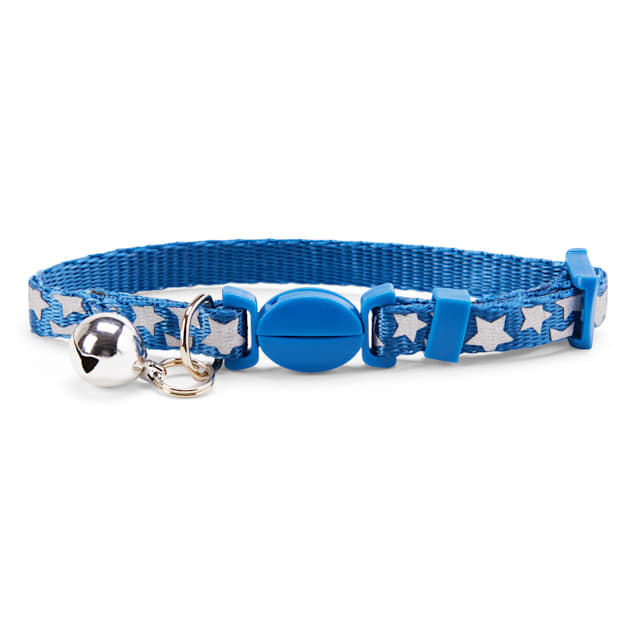 YOULY The Legend Navy Reflective Star-Print Breakaway Kitten Collar - Carousel image #1