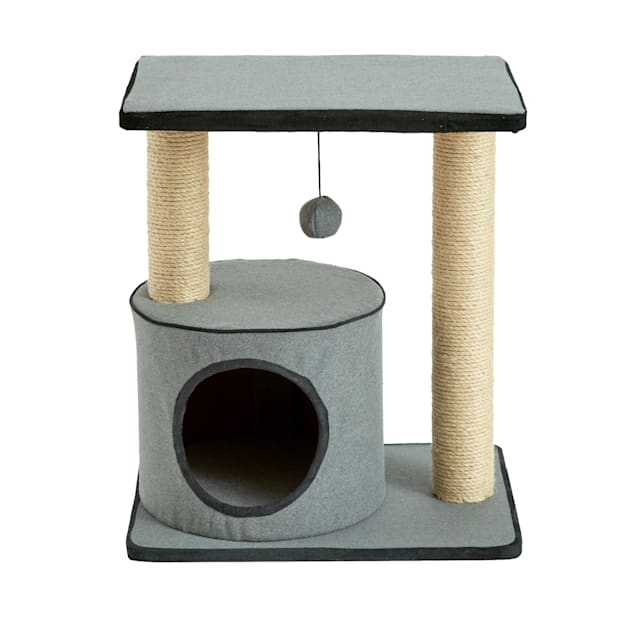 """Two by Two Cherry Cat Condo, 13.4"""" L X 18.5"""" W X 20.9"""" H - Carousel image #1"""