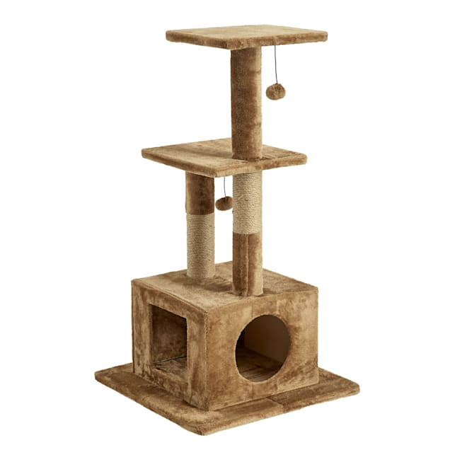 "Two by Two Willow Cat Tree, 23.6"" L X 23.6"" W X 43.7"" H - Carousel image #1"