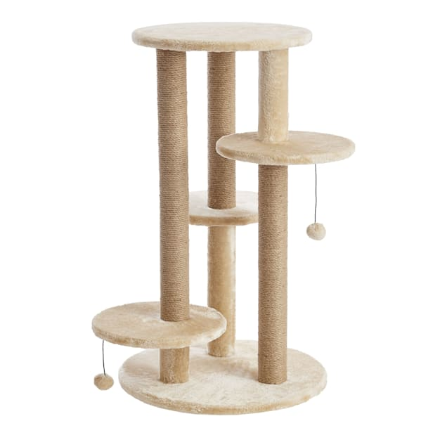 """Two by Two Fir Cat Tree, 21.7"""" L X 21.7"""" W X 36.2"""" H - Carousel image #1"""