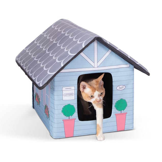 """K&H Unheated Outdoor Kitty House Cottage Design Cat Bed, 18"""" L X 22"""" W - Carousel image #1"""