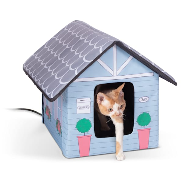 """K&H 20W Heated Outdoor Kitty House Cottage Design Cat Bed, 18"""" L X 22"""" W - Carousel image #1"""