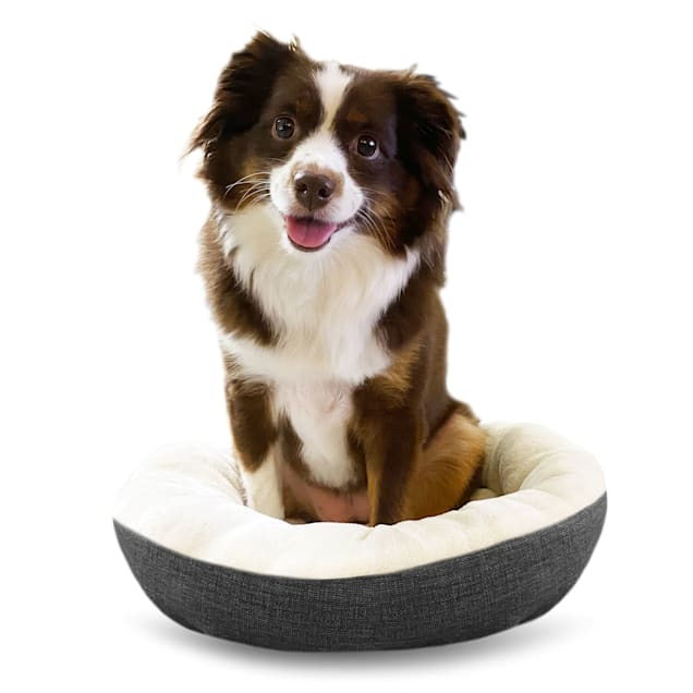"""Pure Comfort Grey Round Cuddler for Dogs, 14"""" L X 18"""" W X 5"""" H - Carousel image #1"""