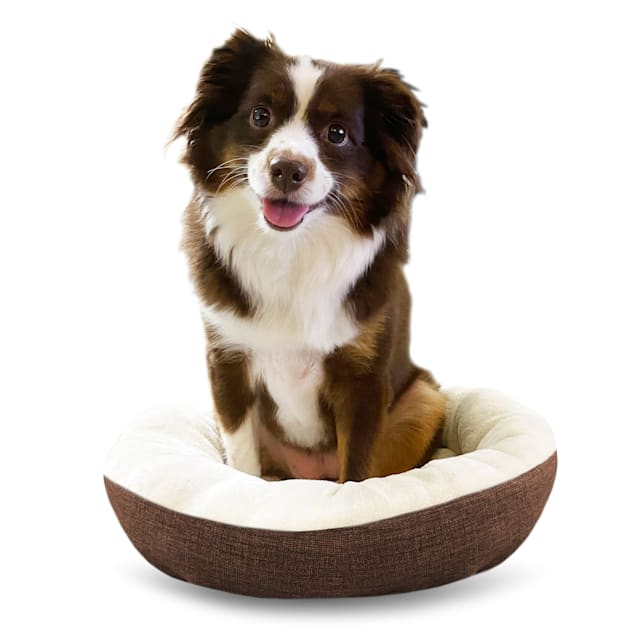 """Pure Comfort Brown Round Cuddler for Dogs, 14"""" L X 18"""" W X 5"""" H - Carousel image #1"""
