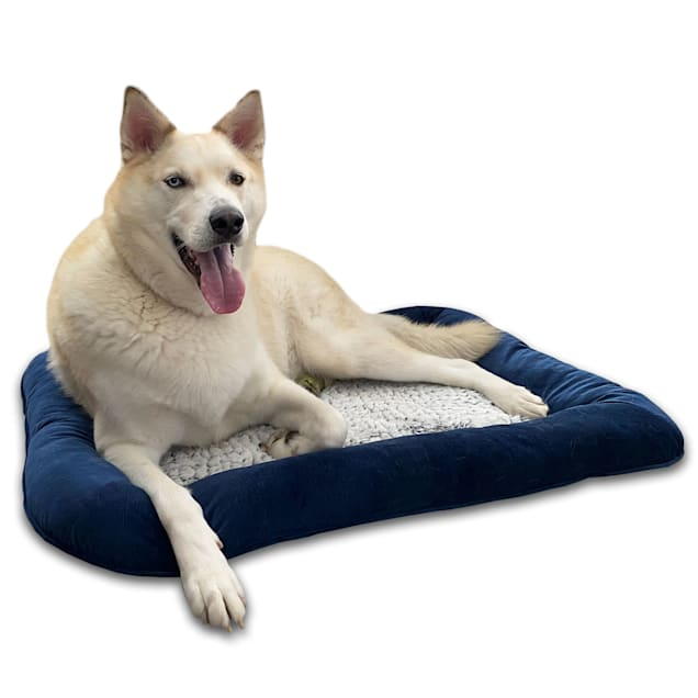 "Pure Comfort Blue Orthopedic Bolstered Napper for Dogs, 30"" L X 40"" W X 4"" H - Carousel image #1"
