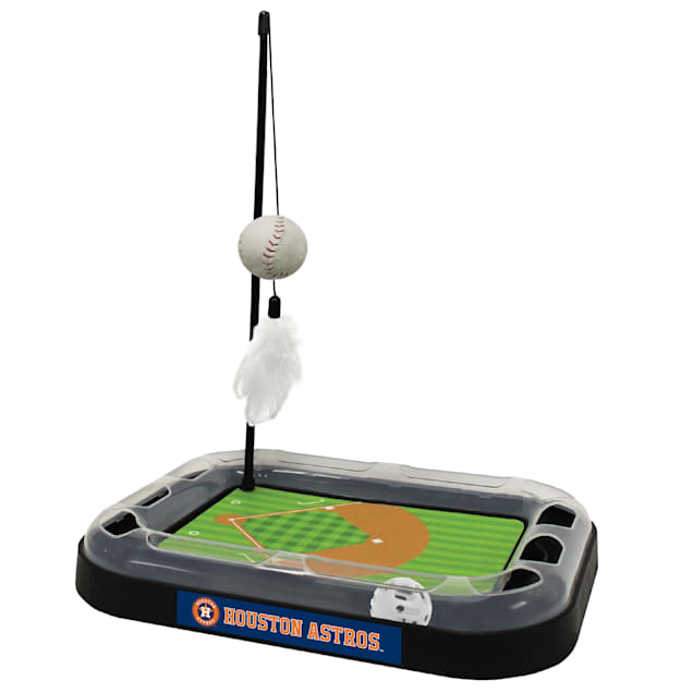 Pets First Houston Astros Baseball Cat Scratcher Toy, Large - Carousel image #1