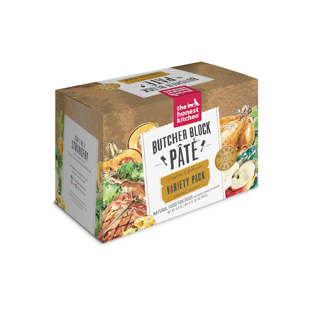 The Honest Kitchen Butcher Block Pate: Variety Pack Wet Dog Food, 10.5 oz. - Carousel image #1