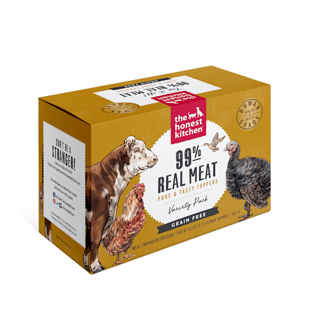 The Honest Kitchen 99% Meat Protein Boosters Variety Pack Wet Dog Food, 5.5 oz. - Carousel image #1