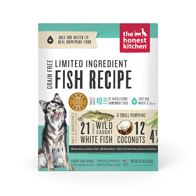 The Honest Kitchen Dehydrated Limited Ingredient Fish Recipe Dry Dog Food, 10 lbs. - Carousel image #1