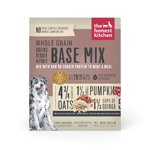 The Honest Kitchen Dehydrated Whole Grain, Veggie & Fruit Base Mix Recipe Dog Food, 7 lbs. - Carousel image #1