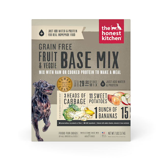 The Honest Kitchen Dehydrated Grain Free Fruit & Veggie Base Mix Recipe Dry Dog Food, 7 lbs. - Carousel image #1