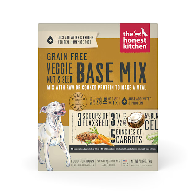 The Honest Kitchen Dehydrated Grain Free Veggie, Nut & Seed Base Mix Recipe Dog Food, 7 lbs. - Carousel image #1