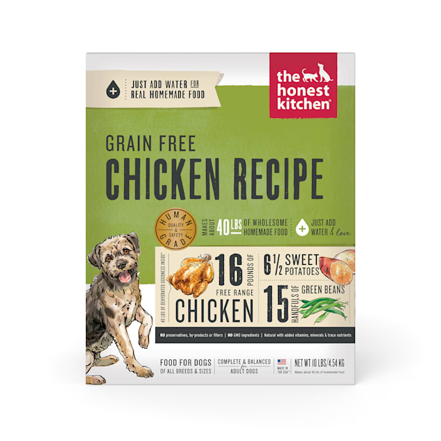 The Honest Kitchen Dehydrated Grain Free Chicken Recipe Dry Dog Food, 10 lbs. - Carousel image #1