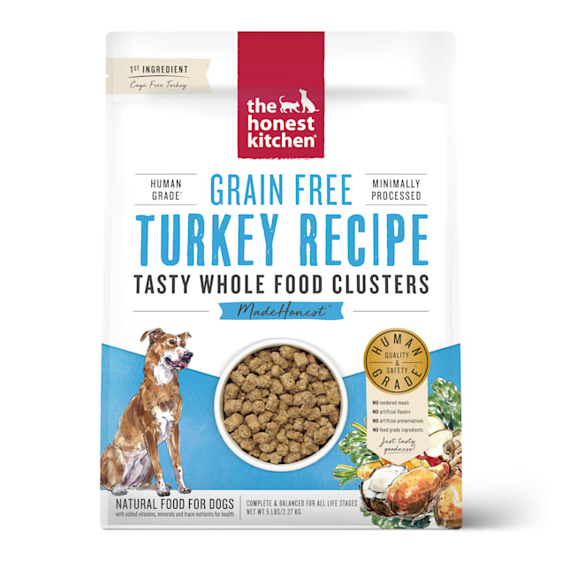The Honest Kitchen Whole Food Clusters Grain Free Turkey Dry Dog Food, 5 lbs. - Carousel image #1