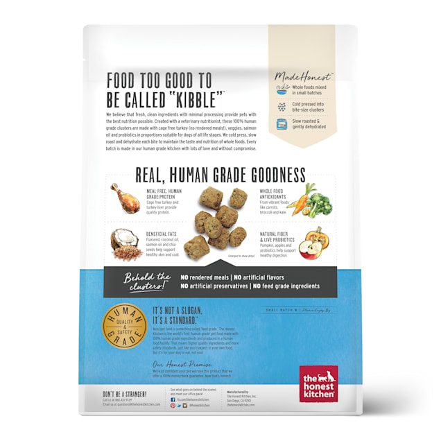 The Honest Kitchen Whole Food Clusters Grain Free Turkey Dry Dog Food 5 Lbs Petco