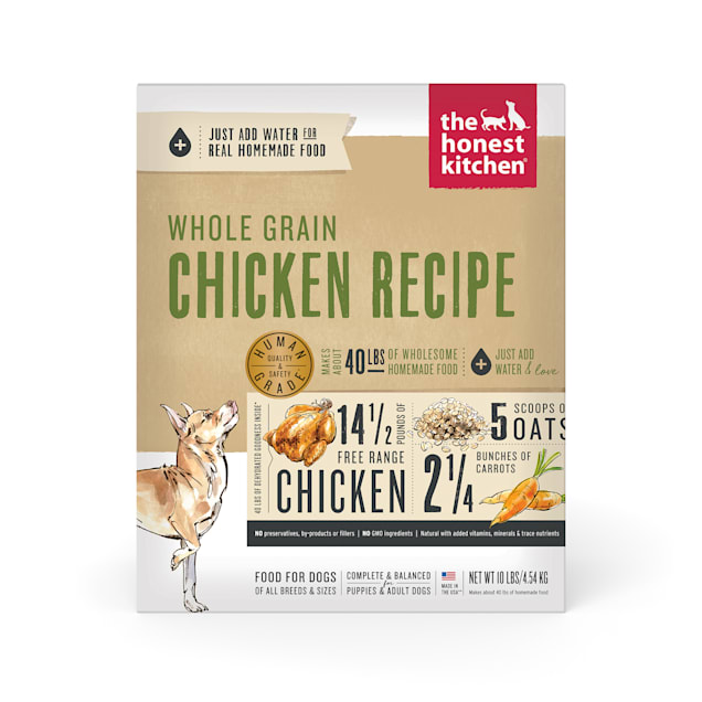 The Honest Kitchen Dehydrated Whole Grain Chicken Recipe Dry Dog Food, 10 lbs. - Carousel image #1