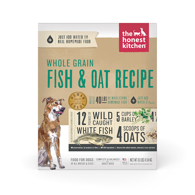 The Honest Kitchen Dehydrated Whole Grain Fish & Oats Recipe Dog Food, 10 lbs. - Carousel image #1