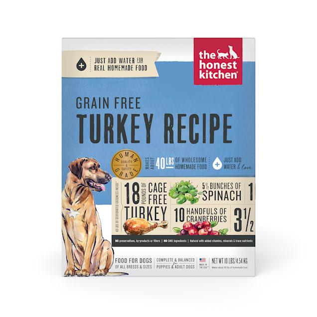 The Honest Kitchen Dehydrated Grain Free Turkey Recipe Dog Food, 10 lbs. - Carousel image #1
