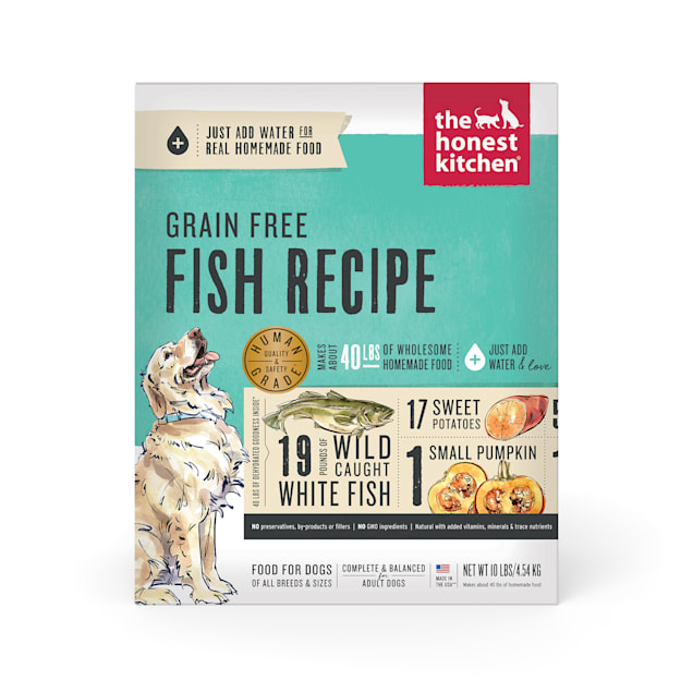 The Honest Kitchen Dehydrated Grain Free Fish Recipe Dry Dog Food, 10 lbs. - Carousel image #1