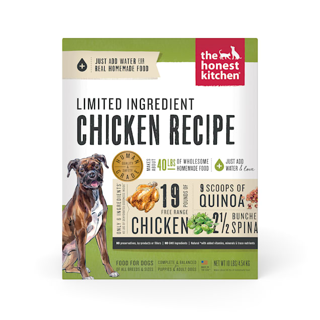 The Honest Kitchen Dehydrated Limited Ingredient Chicken Recipe Dog Food, 10 lbs. - Carousel image #1