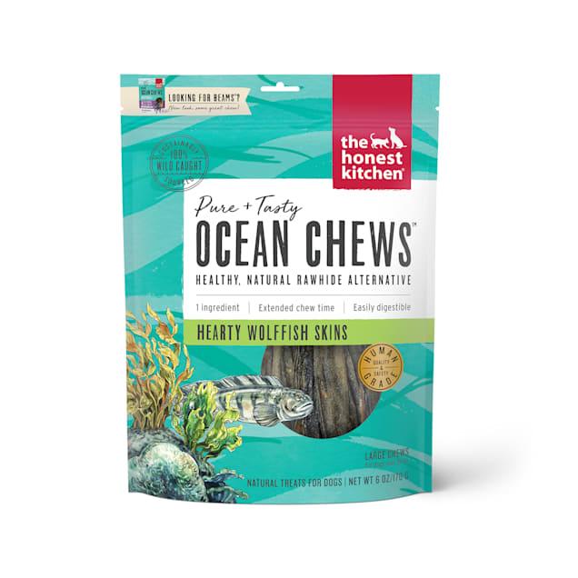 The Honest Kitchen Ocean Chews Hearty Wolffish Skins Dog Treats, 6 oz. - Carousel image #1