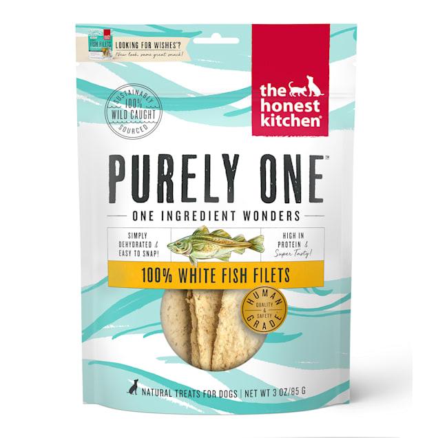 The Honest Kitchen 100% White Fish Filets Dog Treats, 3 oz. - Carousel image #1