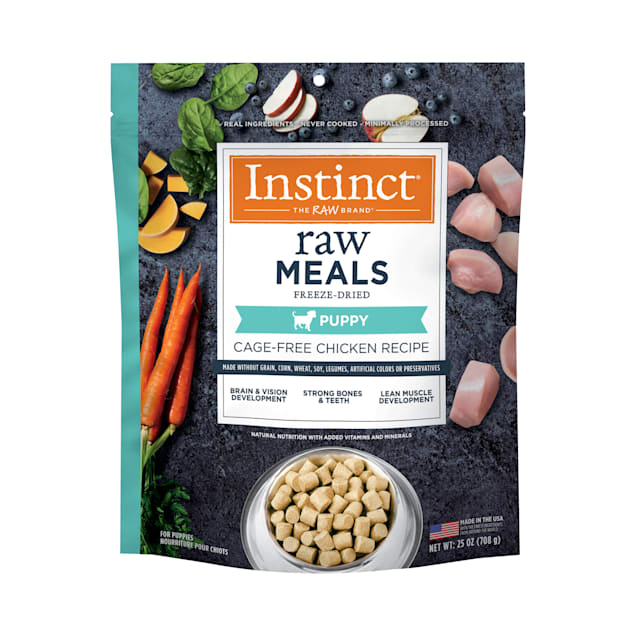 Instinct Raw Freeze-Dried Meals Grain-Free Cage-Free Chicken Recipe Dry Puppy Food, 25 oz. - Carousel image #1