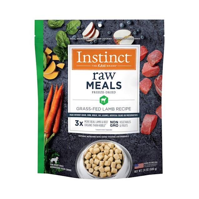 Instinct Raw Freeze-Dried Meals Grain-Free Grass-Fed Lamb Recipe Dry Dog Food, 24 oz. - Carousel image #1