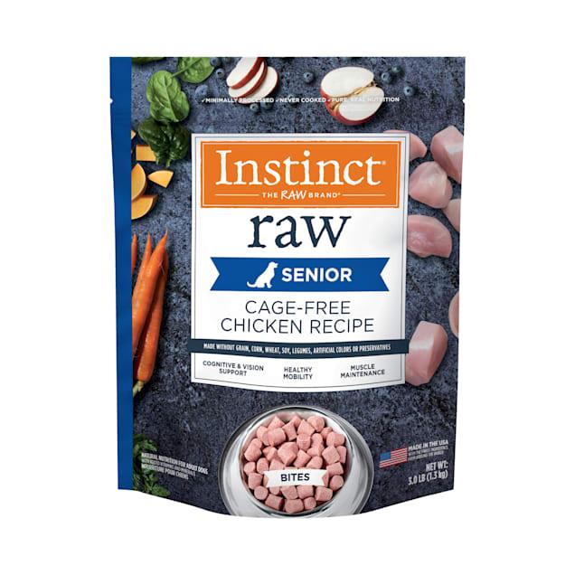 Instinct Frozen Raw Bites Grain-Free Cage-Free Chicken Recipe Senior Dog Food, 3 lbs. - Carousel image #1