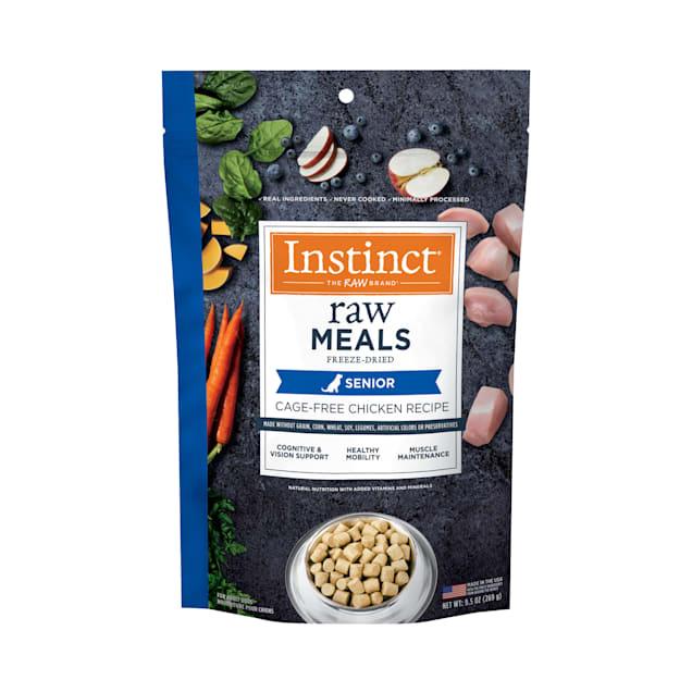 Instinct Raw Freeze-Dried Meals Grain-Free Cage-Free Chicken Recipe Senior Dry Dog Food, 9.5 oz. - Carousel image #1