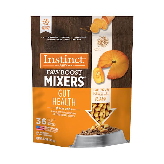 Instinct Frozen Raw Boost Mixers Grain-Free Gut Health Dog Food, 1.25 lbs. - Carousel image #1