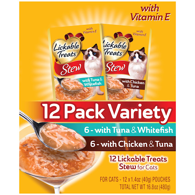 Lickable Treats Stew Variety Pack for Cat, 1.4 oz., Count of 12 - Carousel image #1