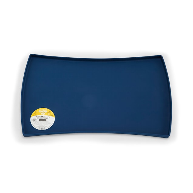 EveryYay Table Manners Blue Silicone Placemat, X-Small/Small - Carousel image #1
