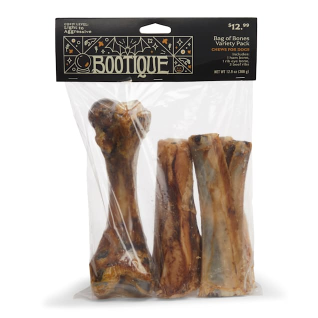 Bootique Bag of Bones Variety Pack Chews for Dogs, 12.9 oz. - Carousel image #1