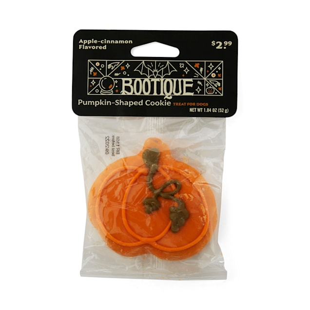 Bootique Pumpkin-shaped Dog Cookie Treat for Dogs, 2.1 oz. - Carousel image #1