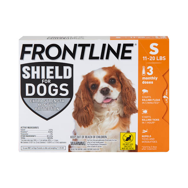 FRONTLINE Shield Flea & Tick Treatment for Small Dogs 11-20 lbs., Count of 3 - Carousel image #1