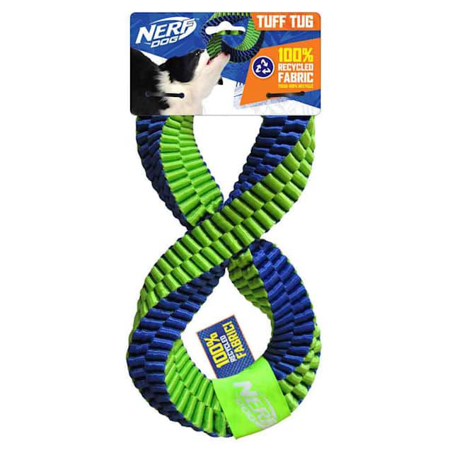 Nerf Nylon Square Braided Twisted Infinity Tug Dog Toy, Medium - Carousel image #1