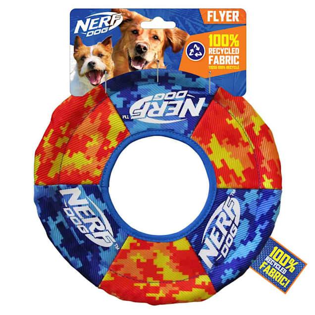 Nerf Nylon Digital Camo Toss Tug Ring Dog Toy, Medium - Carousel image #1