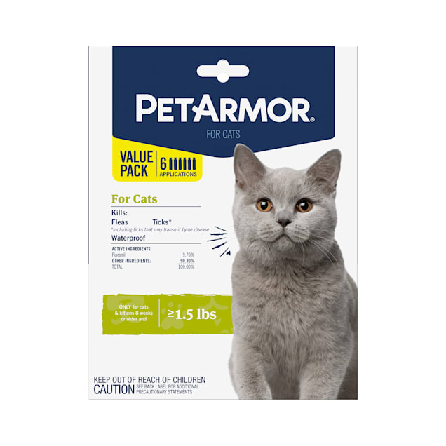 PetArmor Flea and Tick Treatment for Cats Topical, 6 Monthly Treatments - Carousel image #1