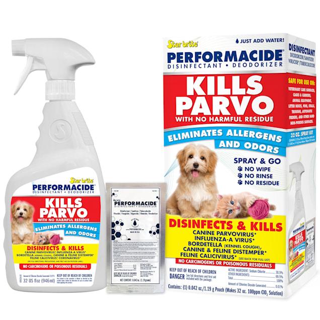 PERFORMACIDE STARBRITE Kills Parvo Disinfectant Kit for Dogs, 32 fl. oz. - Carousel image #1
