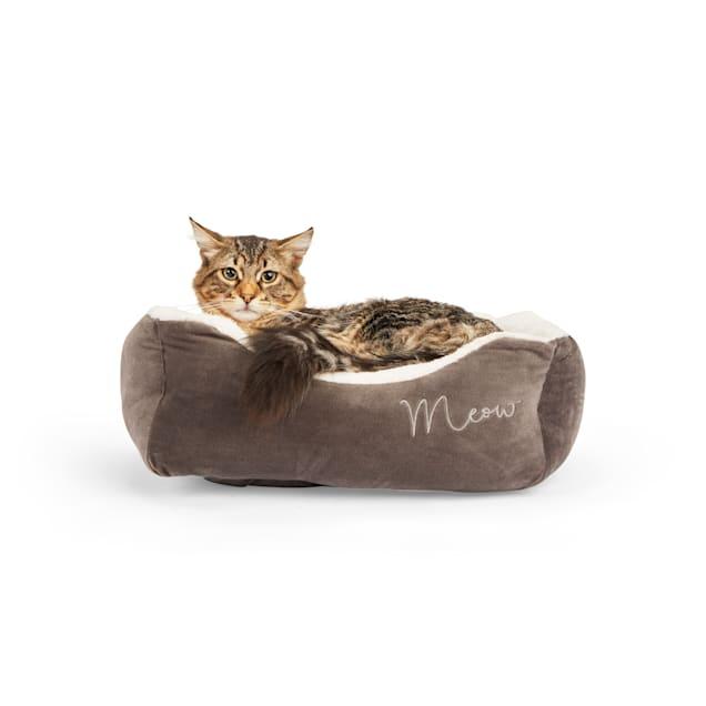 "EveryYay Snooze Fest Grey Rectangular Cat Bed, 18"" L  X 15"" W X 6"" H - Carousel image #1"