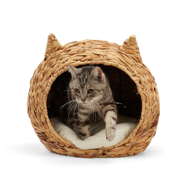 """EveryYay Snooze Fest Straw Play Cave Cat Bed, 16.5"""" L X 14.2"""" W X 14.5"""" H - Carousel image #1"""