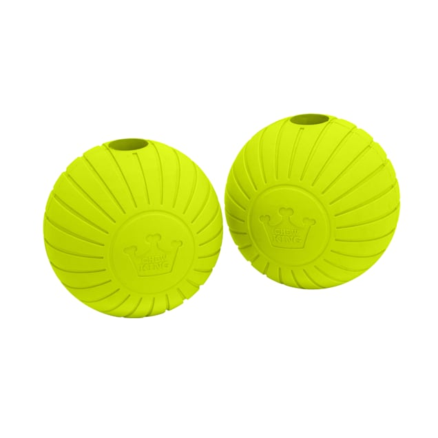Chew King Solid Rubber Balls Dog Toys, Medium, Pack of 2 - Carousel image #1