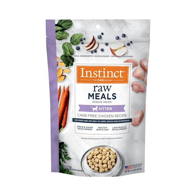 Instinct Raw Freeze-Dried Meals Grain-Free Cage-Free Chicken Recipe Dry Kitten Food, 9.5 oz. - Carousel image #1