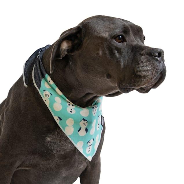 Long Dog Clothing Co. The Jingle Bell Reversible Dog Bandana, Small - Carousel image #1